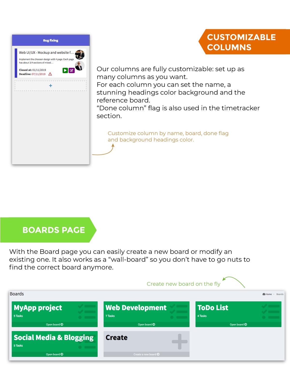 Personal Kanban Board - FireGUI Customizable - 3